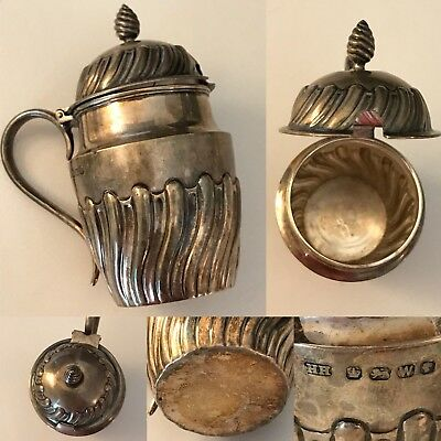 Antique English Sterling Silver Harrison & Howson Mustard Jar 1885