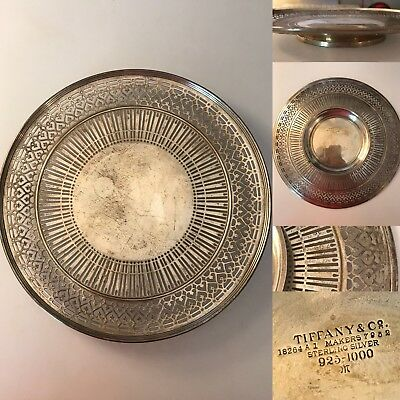 Antique Tiffany Co Sterling Silver Reticulated Pierced Cake Plate Tray