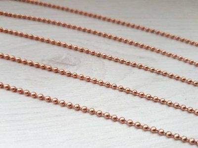 Raw Copper Ball Chain - Choose your length