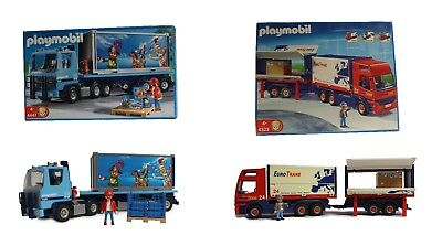 Playmobil LKW 4323 Euro Trans RC-fähig 4447 Container-Truck Gitterbox Pakete