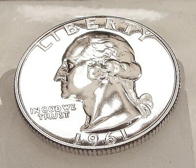 "1961  Quarter  Gem  Proof  Premium  Quality ""Flashy  Eye  Candy""   #716  14"