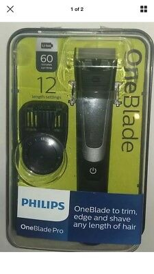 BNIB Philips OneBlade Pro Trimmer Styler Shaver 12-length Comb Wet Dry QP6510/25