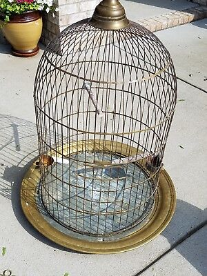 Antique Brass HENDRYX Parrot Cage