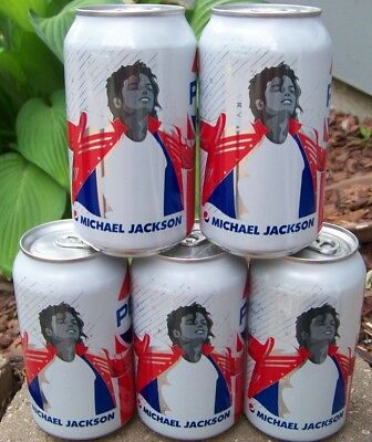 Michael Jackson 5 Pepsi cans UNOPENED music generation series 2018 limited ed