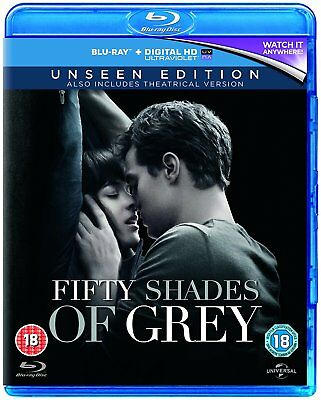 Fifty Shades Of Grey Unseen Edition Blu Ray (Jamie Dornan) New & Sealed