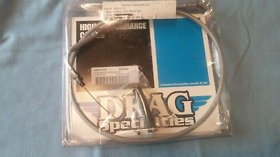 "Harley Davidson Drag Specialties #0651-0115 Stainless Braided Idle Cable 30"" Nos"