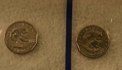 1999  Susan B. Anthony Uncirculated Coin Set - P & D Mints - 2 One Dollar Coins