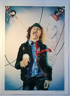 AC/DC - Angus Young 1979 original poster By : Paul Keysell, 30 cm x 41 cm