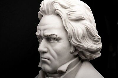 Beethoven Marble Bust, Composer, Musician, Marble Sculpture, Gift, Ornament.
