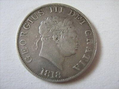 1818 George III Half Crown - See Photos For Condition