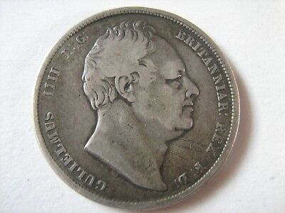 1834 William IV Half Crown - See Photos For Condition