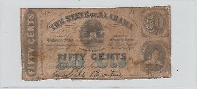 50 Cents Alabama Obsolete Currency 1863