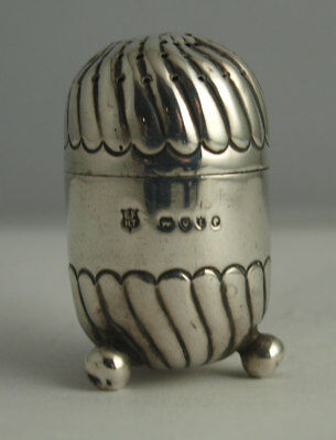 Charming Victorian Small Solid Silver Pepperette - London 1886