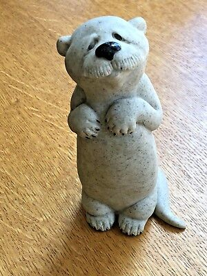 "CUTE Quarry Critters Oscar Otter animal 6"" Figurine Second Nature Retired 2000"