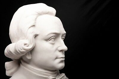 Mozart Marble Bust, Composer, Musician, Marble Sculpture, Gift, Ornament.
