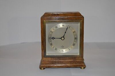 Elliot Oak Mantle Clock Art Deco Period