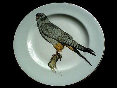 FENTON CHINA 'Grey Bird of Prey' Signed H Arndt 73 10in Display Cabinet Plate