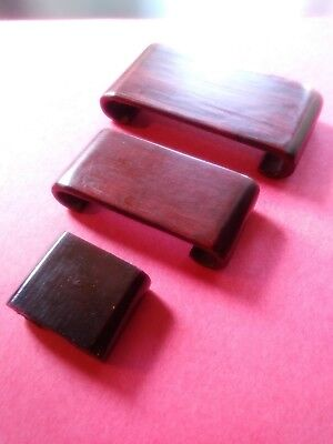 display stand base Chinese red hard wood set of 3 PC WOODEN small stand