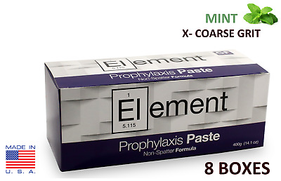 8 BOXES ELEMENT Prophy Paste Cups MINT X-COARSE 200/Box  Dental W/Flouride