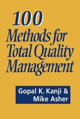 100 Methods For Total Quality Management by Mike Asher Paperback Book The Cheap