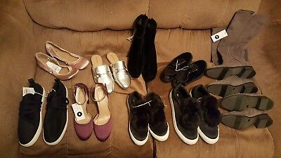 10 Pr Women's Shoe lot Pumps Sneakers Boots Booties Loafer Great for resale. New