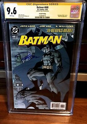BATMAN #608 2nd printing VARIANT CGC SS 9.6 SIGNED BY JIM LEE DC COMICS 2002 NM