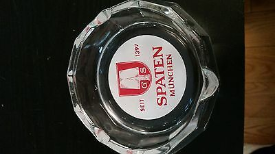 Vintage Glass SPATENBRAU MUNCHEN Ashtray Germany