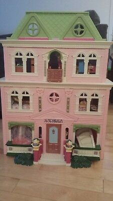 Fisher Price Loving Family Grand Mansion with dolls and furniture for sale!