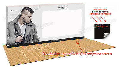 Trade show Pop-up Projection Screen Portable Display Booth 20ft 240 inch