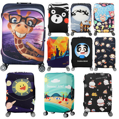 Cartoon Theme 20/24/28/30'' Travel Luggage Suitcase Elastic Protector Cover Bags