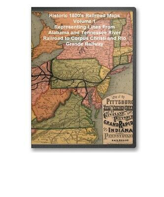 Historic Railroad Maps Map Collection Representing Lines A to C on CD - B95