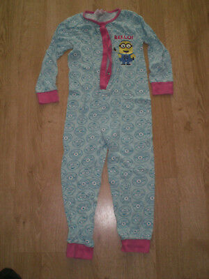 Girls Despicable Me, Turquoise All-In-One with Minions on, 7-8yrs