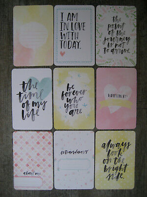 """'inspire' Project Life Cards By Becky Higgins -6"""" X 4"""""""