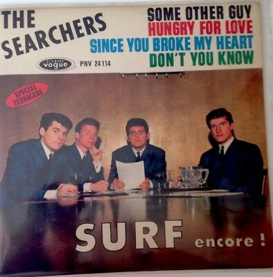"""7"""" SEARCHERS EP SURF encore ! Vogue PNV 24114, Some other guy!"""