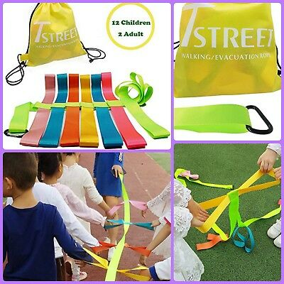 Anti Lost Baby Kids Child Safety Walking Rope Walking Rein 12 Children Daycare