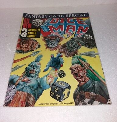 2000AD's Dice Man Role Playing Game Issue No 1   1986
