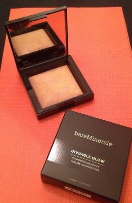 BareMinerals Invisible Glow Powder Highlighter Medium 0.24 Oz New