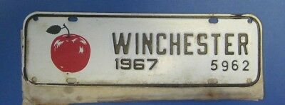 1967 Winchester Virginia License plate never used