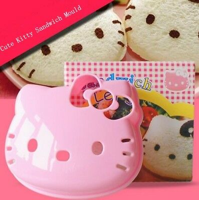 1PC Cute Hello Kitty Sandwich Mould Maker Rice Bread Mold Cookie Biscuit Cutter