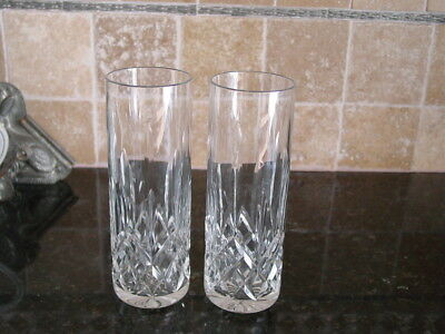 """2 x Waterford Crystal LISMORE 7"""" Tall Tom Collins"""