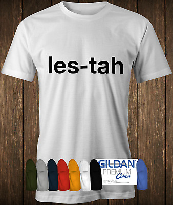 LES-TAH tee as worn by Serge of Kasabian Leicester T-shirt band music tee shirt