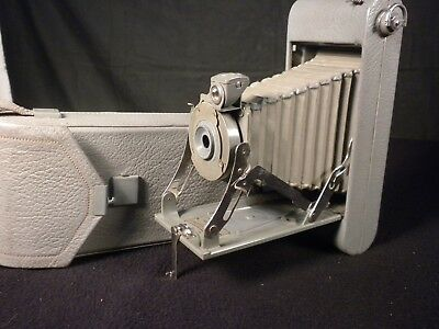 Excellent Gray Colored 1A Pocket Kodak With Case