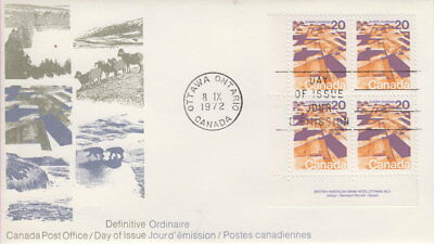 Canada #596 20¢ Landscapes Definitives - Praires Ll Plate Block First Day Cover