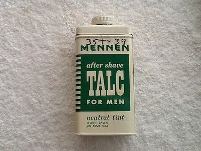 Vintage Mennen after shave Talc For Men neutral tint Tin see picture