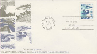 Canada #597 25¢ Landscape Definitives Polar Bears First Day Cover