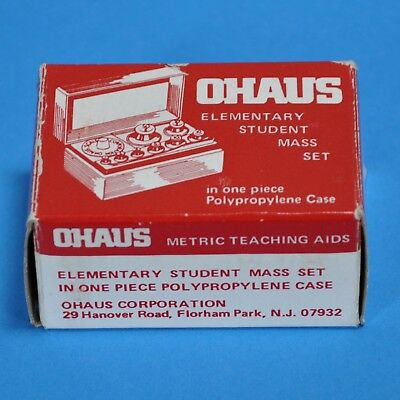 Ohaus Brass Mass Set Of 8 Metric Weight 1 Gram To 50 Gram 241-03  -- 2248