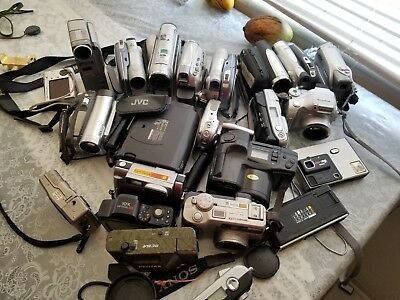 Lot of 20 miscellaneous video cameras