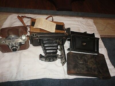 3 Early 1900's Vintage Cameras