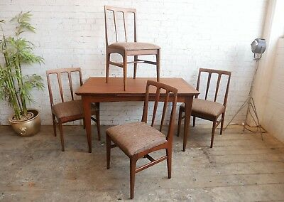 Vintage Retro Mid Century Danish Era Younger Fonseca Dining Table & and 4 Chairs