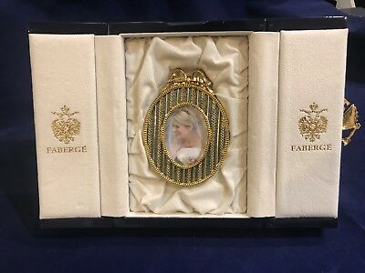 Authentic Faberge Picture Frame Blue Enamel Guilloche Gold Plate.